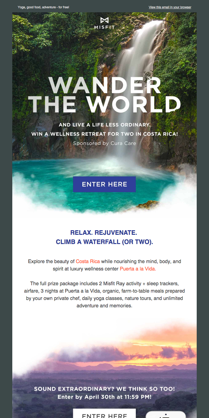 Win a wellness trip for two to Costa Rica!