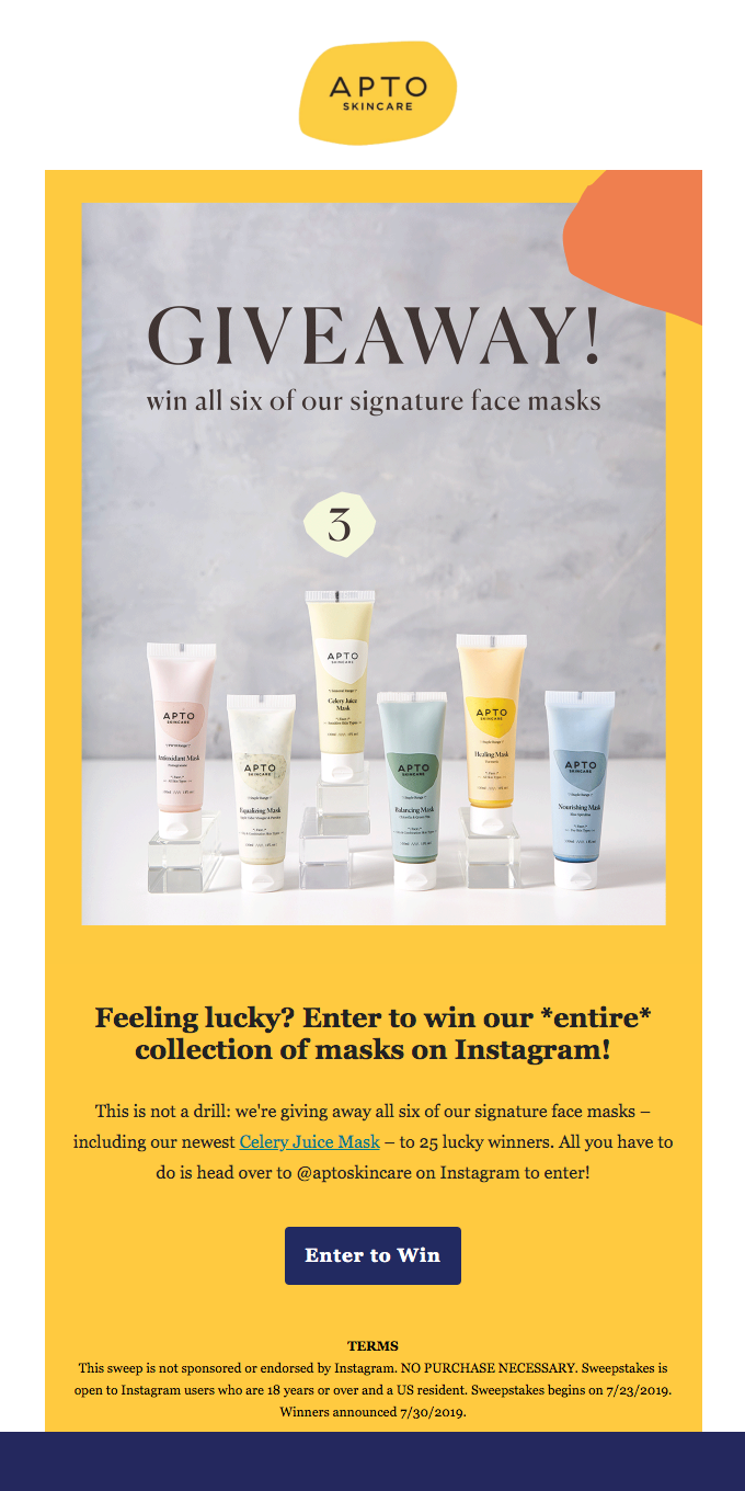 Win all of our masks 💆