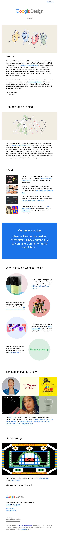 Winter 2019 | Google Design Newsletter
