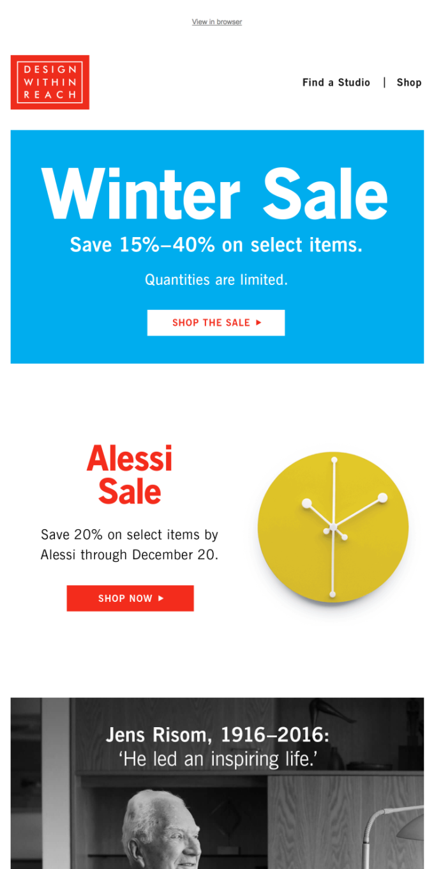 Winter Sale hot deals