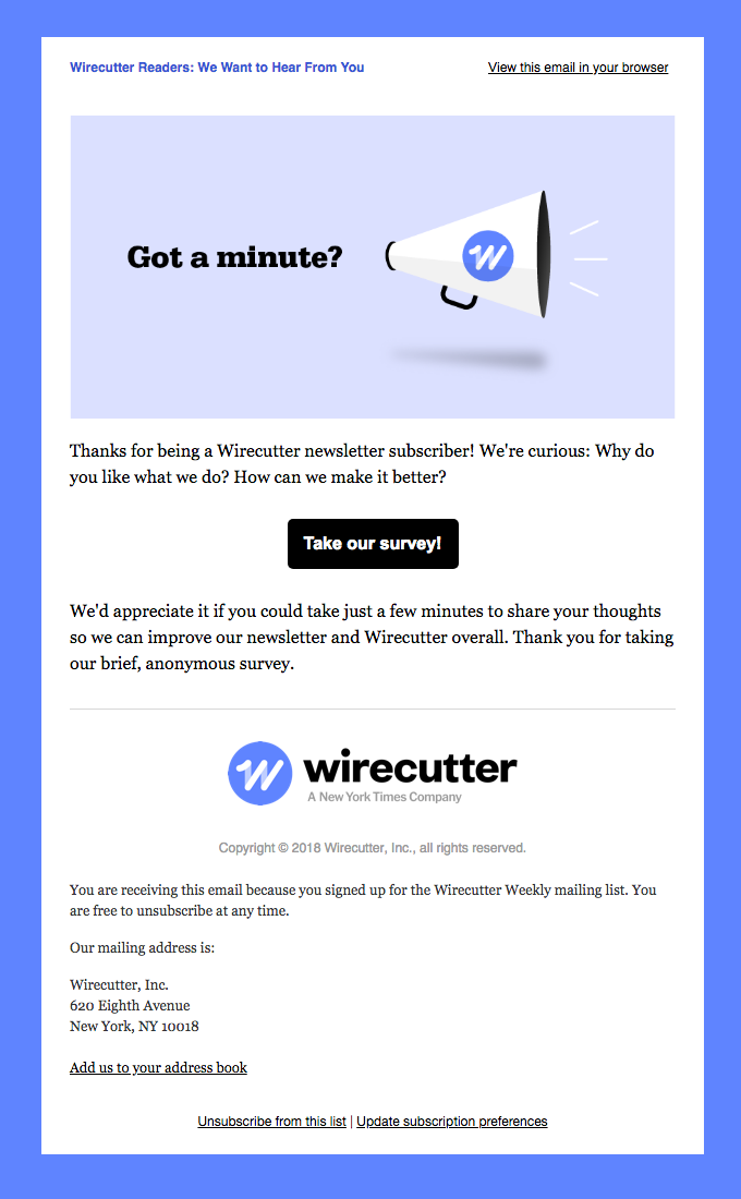 Wirecutter Readers: We Want to Hear From You