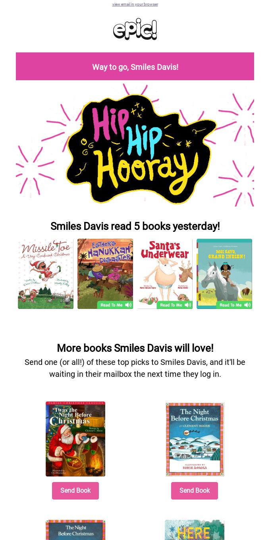 Woohoo! Give Smiles Davis a High Five ✋!