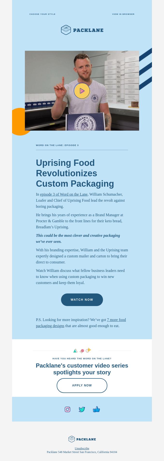 Word on the Lane episode 3: Uprising Food 🍞
