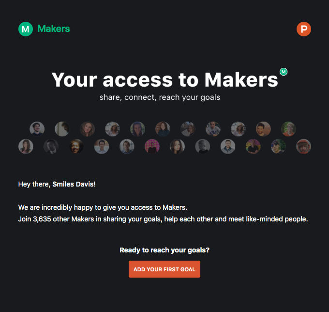 Yay! You now have access to Makers!