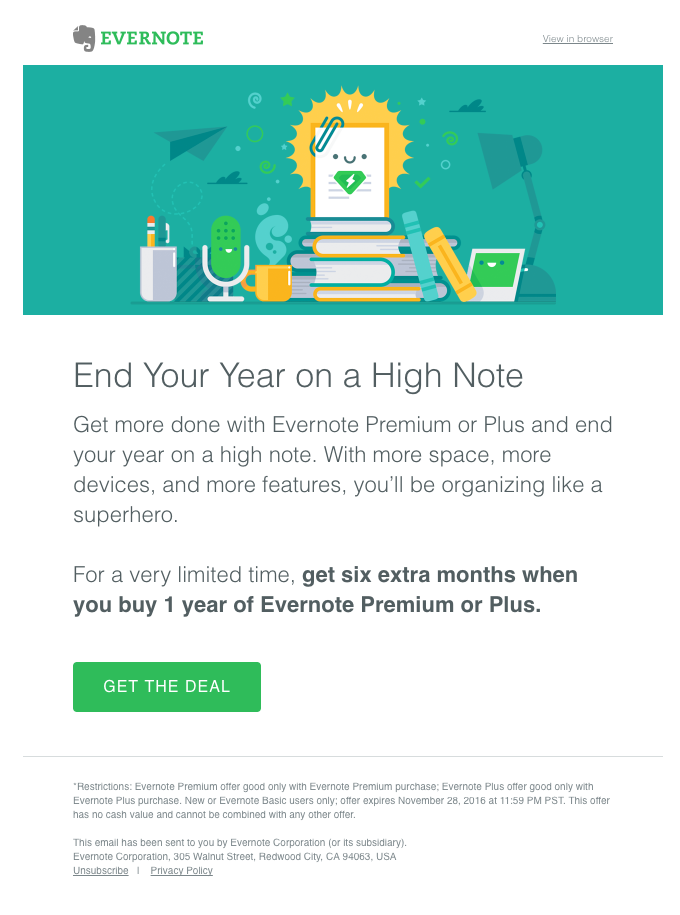 Year-end offer: Buy 1 year, get 6 extra months
