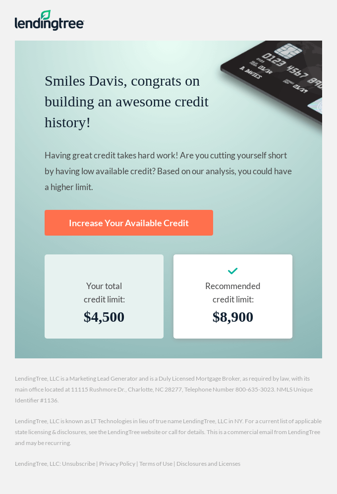You could be eligible for a higher credit limit