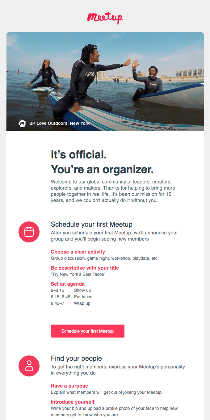 You're in. #emailgeeksCHI has been approved.