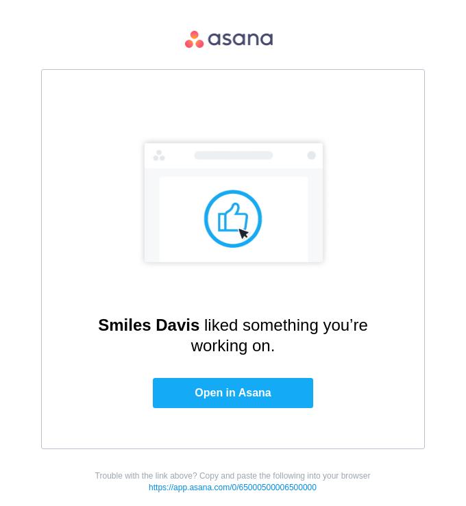 You received a Like on Asana!