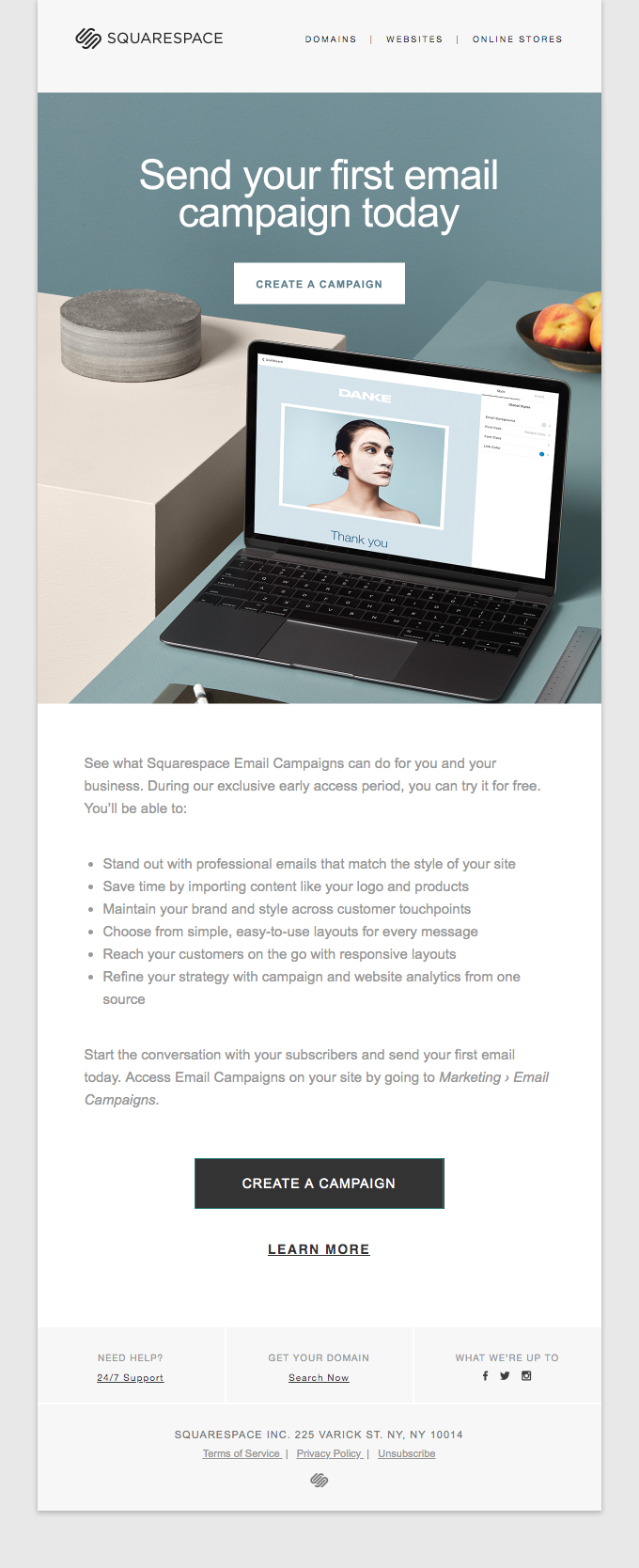You've received early access to Email Campaigns