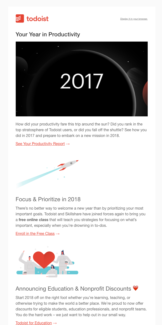 Your 2017 Todoist Year in Review 🚀