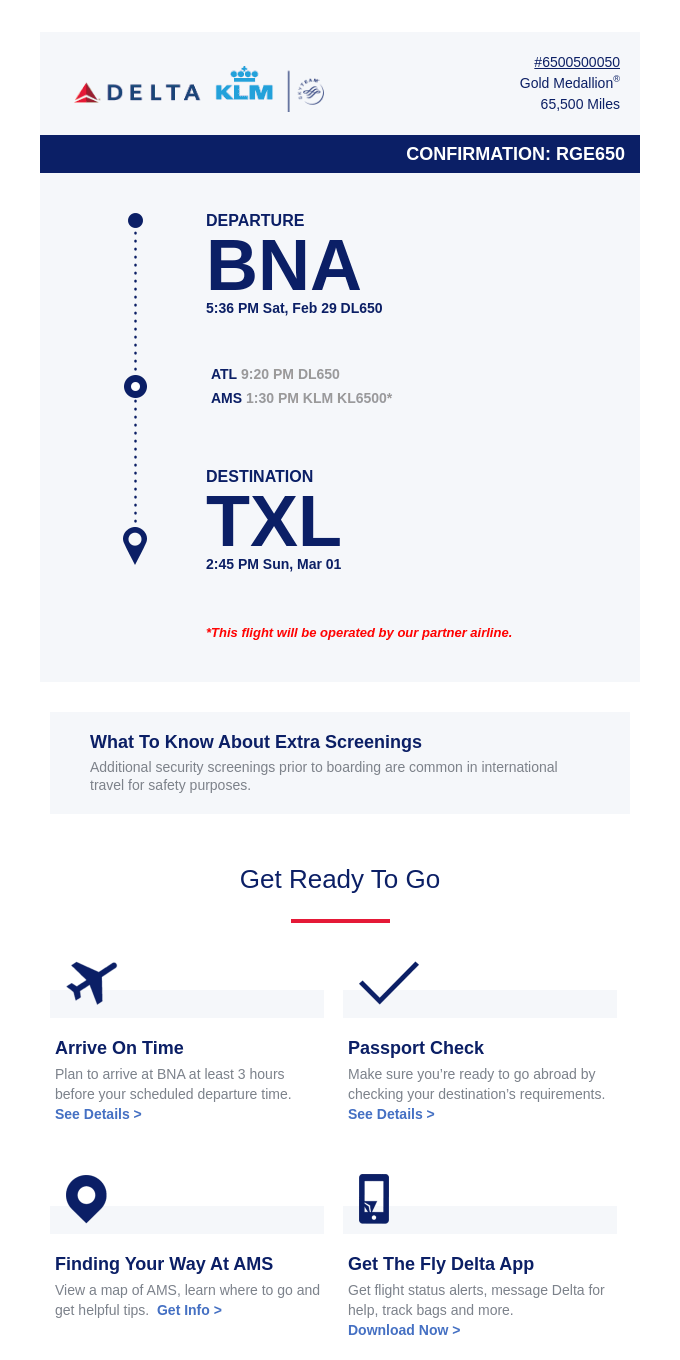 Your BNA > TXL Trip Details