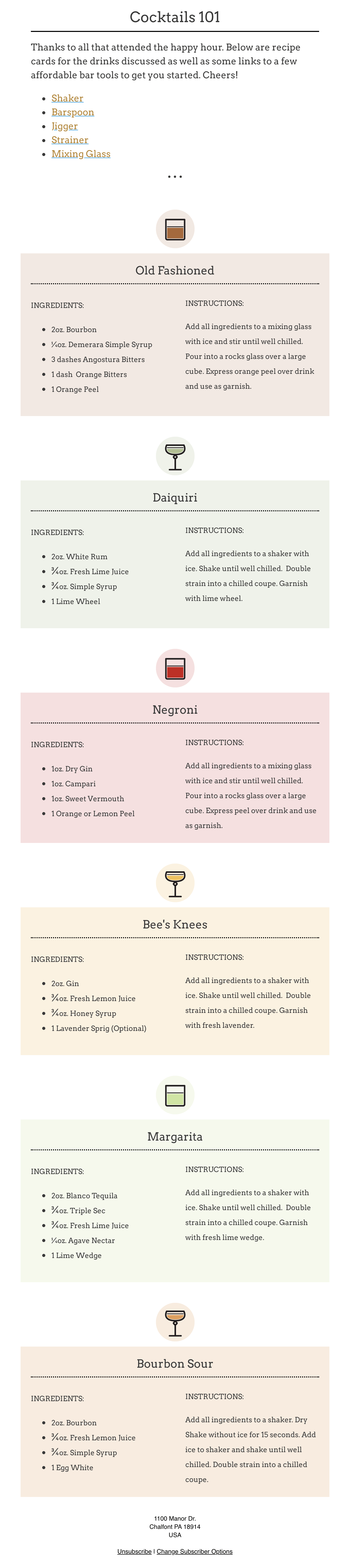 Your Cocktails 101 Recipes 🥃