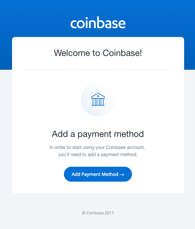 Your Coinbase account is incomplete