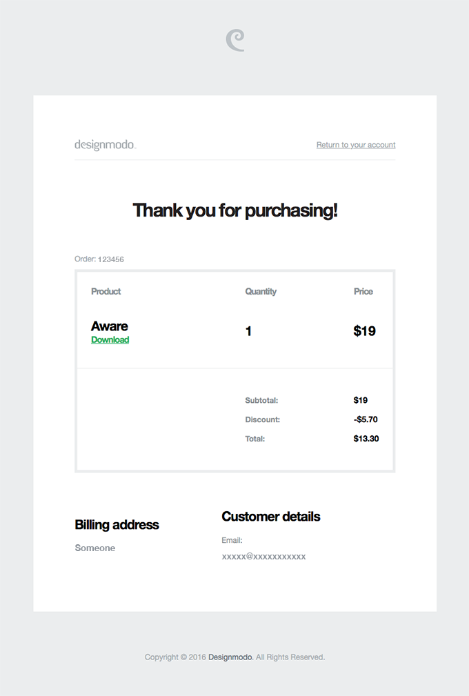 Your Designmodo order from February 23, 2016 is complete – download your files