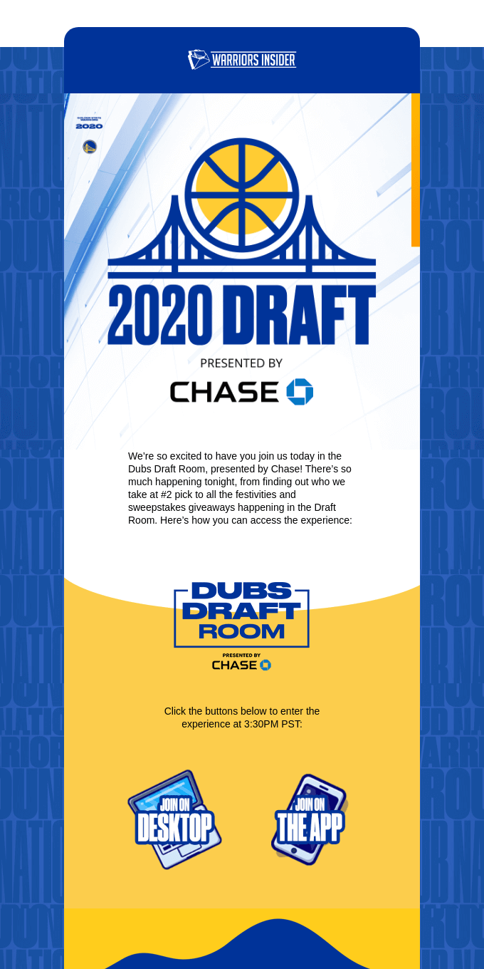 Your Dubs Draft Room Experience Guide