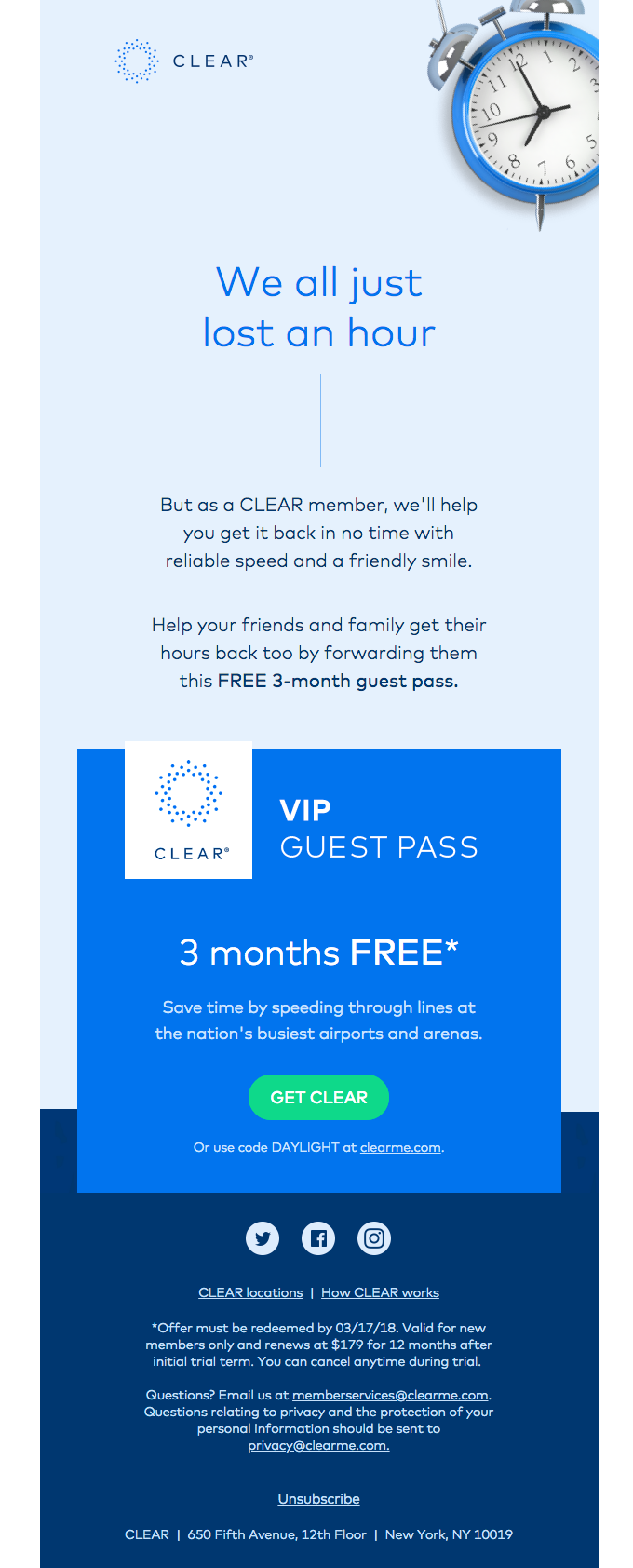 Your exclusive guest pass