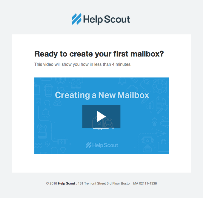 Your first mailbox