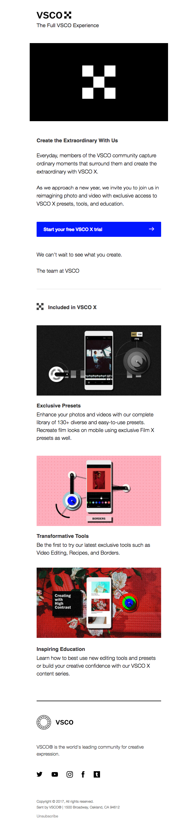 Your Free VSCO X Trial