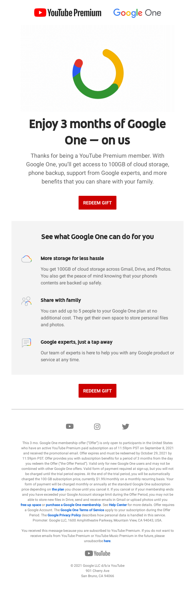 Your Google One gift is waiting