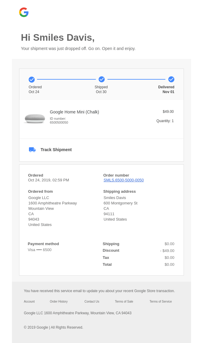 Your Google Store shipment is here