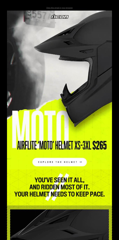 Your Helmet Needs To Keep Pace - All New Airflite Moto Helmet