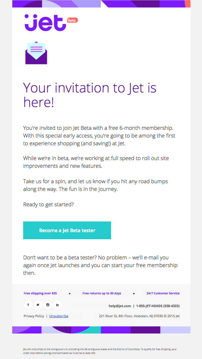 Your Jet Invitation is Inside