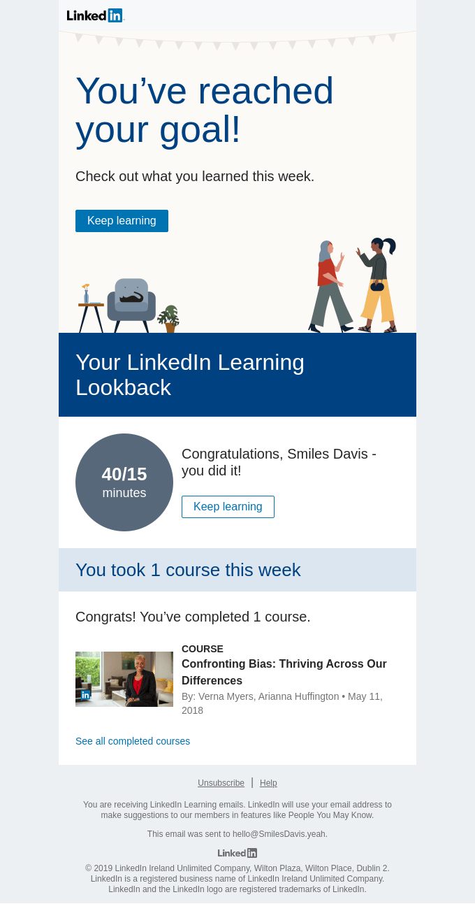 Your week with LinkedIn Learning