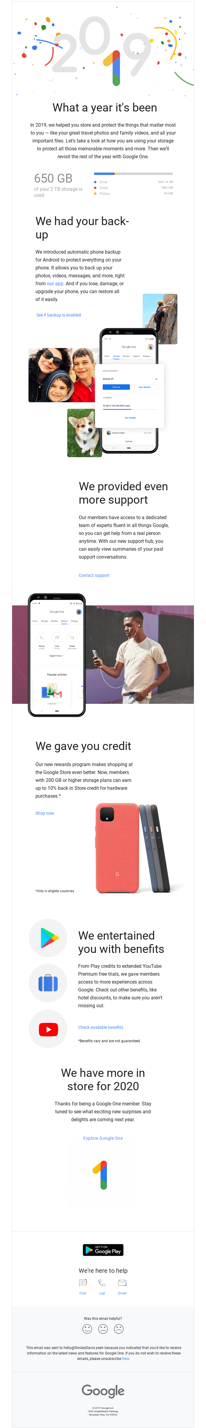 Your year with Google One