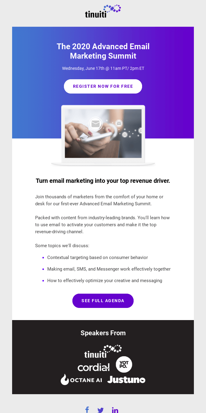 You're invited! The 2020 Advanced Email Marketing Summit