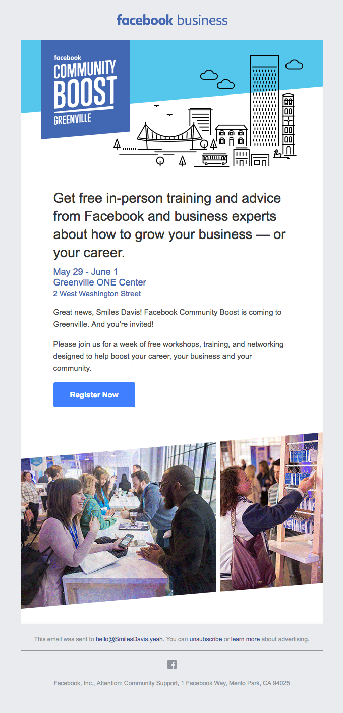 You're invited to Facebook Community Boost | Greenville!